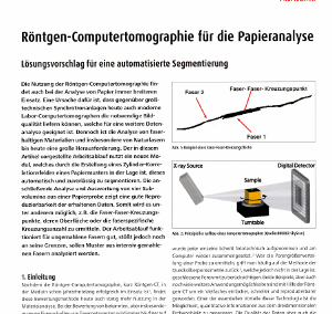 Computertomography for analysing paper (Article in German)